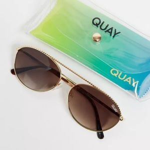 QUAY Australia Easily Amused Round NEW Sunglasses